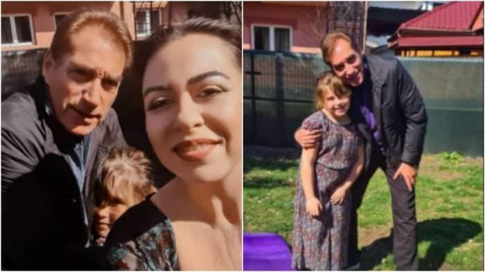 Colaj cu Petre Roman alături de Oana și fiica sa, Isa.