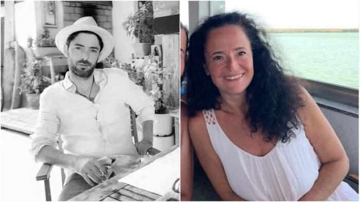Colaj cu Dan Bordeianu la terasă/ Oana Sorescu în vacanță.