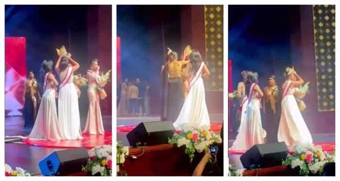 Miss World a fost arestată, după ce i-a smuls coroana de pe cap lui Miss Sri Lanka. Totul a avut loc chiar la festivitatea de premiere / VIDEO