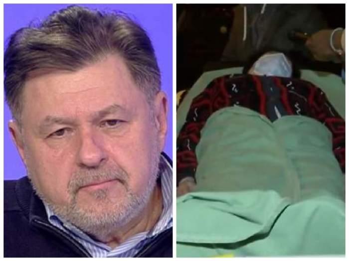 Alexandru Rafilă și un pacient evacuat