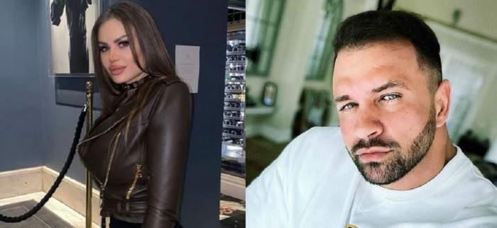 Un colaj cu Daria Radionova și Alex Bodi. Ea poartă o geacă de piele maro, iar el o bluză albă.