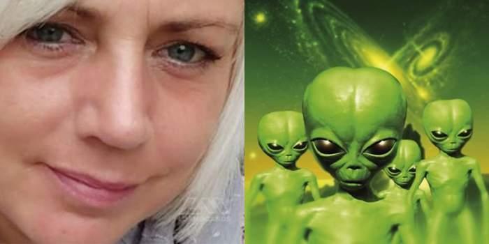 femeia rapita de extraterestrii colaj