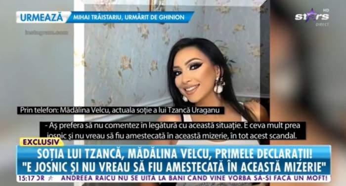 """Reacția Mădălinei Velcu, după ce a aflat că Tzancă Uraganu așteaptă un al doilea copil cu Lambada: """"Nu sunt genul să accepte sclavia"""" / VIDEO"""