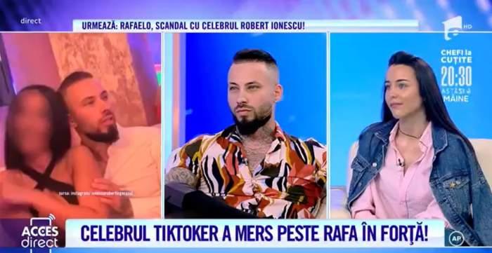 Acces Direct. TikTok-erul Robert Ionescu, înșelat de iubită cu prietenul Rafaelo? Vloggerii s-au răfuit în stradă și au făcut totul public