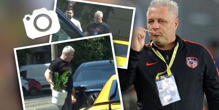 Marius Șumudică își respectă apropiații, dar nu și regulile de circulație. Vedeta din fotbal a fost surprinsă în timp ce își făcea de cap / PAPARAZZI