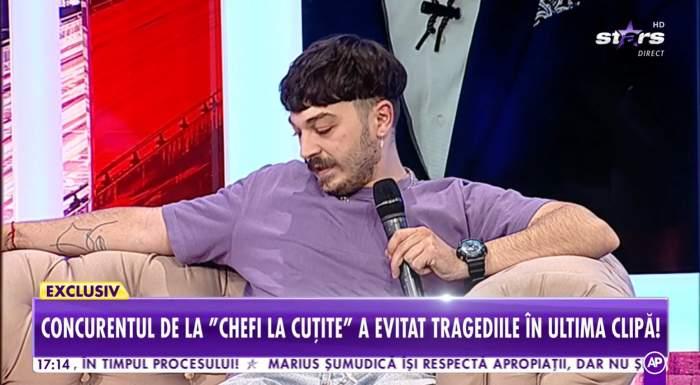 """Theo Costache, concurentul preferat al lui chef Florin Dumitrescu, are premoniții anormale. O melodie a fost cât pe ce să îl ucidă: """"Mi-e puțin frică"""" / VIDEO"""