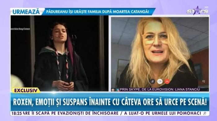 """Liana Stanciu, declarații la Antena Stars despre pregătirile Eurovision 2021! Roxen a trecut de primele repetiții: """"Este copleșitor"""" / VIDEO"""