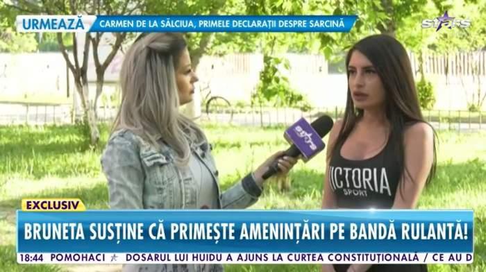 Gabriela Cristoiu este in parc si da interviu pentru Antena Stars