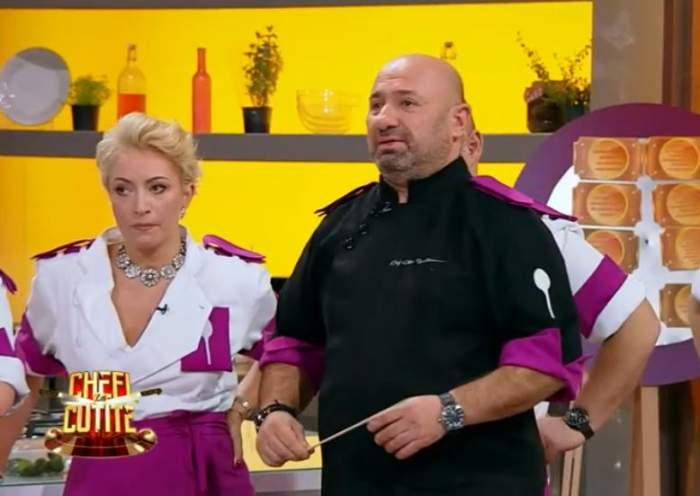 Florin Dumitrescu și-a dat la schimb un concurent pentru unul din echipa lui Cătălin Scărlătescu! Tensiuni între jurații Chefi la cuțite / VIDEO