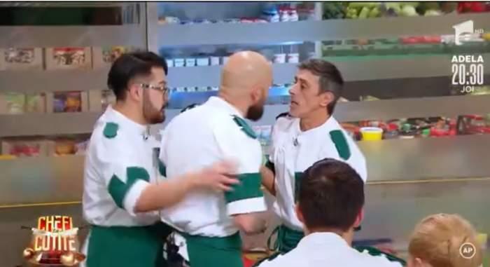 """Francisco Garcia și Dorin Voiasciuc, la un pas de bătaie la Chefi la cuțite! De la ce a pornit conflictul: """"Ai noroc că ești la TV"""" / VIDEO"""