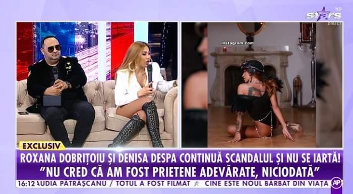 """Roxana Dobrițoiu a iertat-o pe Denisa Despa, după bătaia din restaurant! Declarații despre posibila împăcare, la Antena Stars: """"A spus că îi pare rău"""" / VIDEO"""