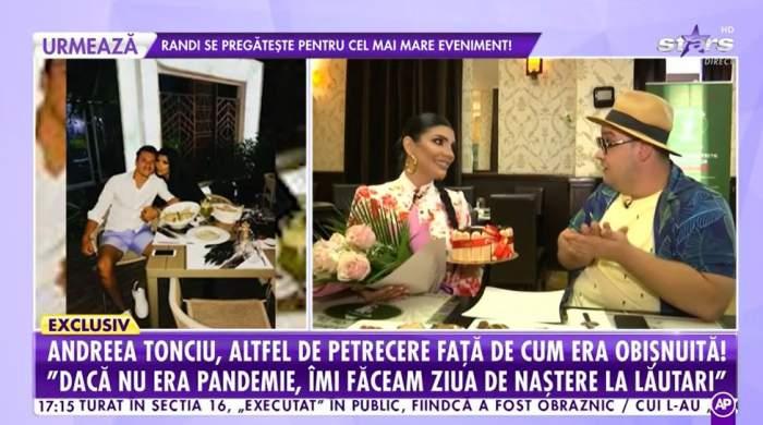 """Cum petrece Andreea Tonciu de ziua ei! Surpriză de proporții pentru vedetă, la Antena Stars: """"Dacă nu era pandemie, făceam chef cu lăutari"""" / VIDEO"""
