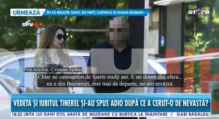 """Cristina Spătar, primele declarații la Antena Stars, după ce a fost surprinsă cu un bărbat misterios: """"Ne cunoaștem de 15 ani"""" / VIDEO"""