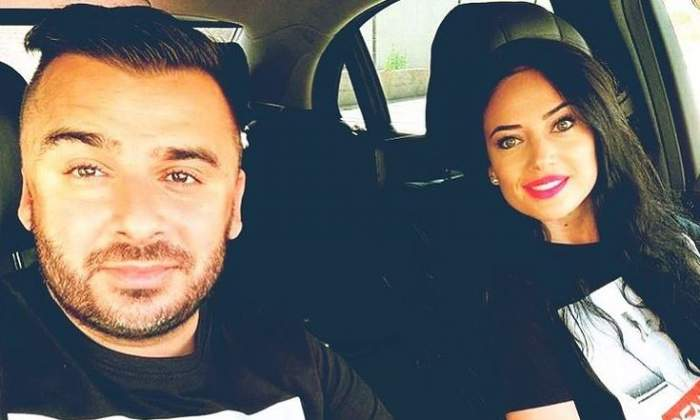 Liviu Guță și soția lui, Roxana, sunt în mașină. Cei doi își fac un selfie.