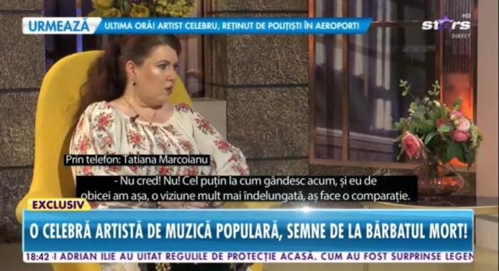 Tatiana Marcoianu a vorbit la Antena Stars despre moartea sotului ei