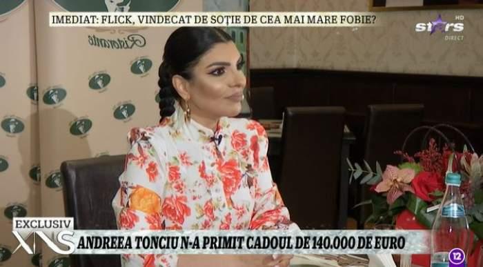 Captură video cu Andreea Tonciu.