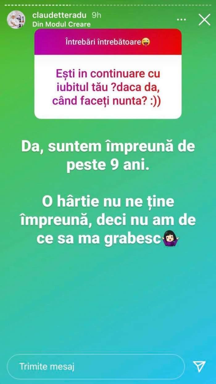 Mesajul Claudiei Radu de pe Instagram. Le-a vorbit fanilor despre nuntă.