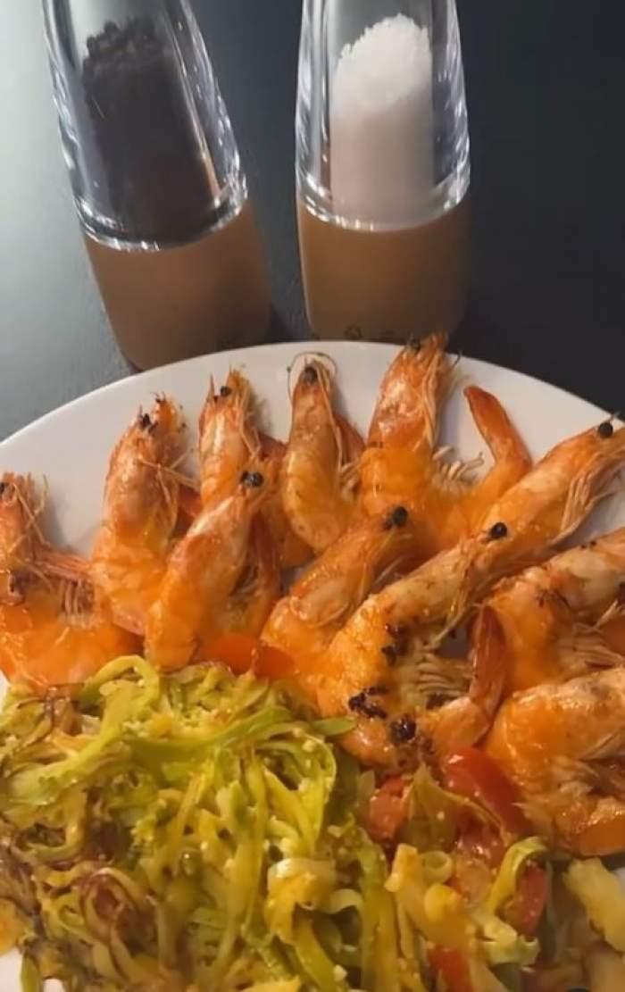 Rețeta de paste cu creveți și dovlecel a Cristinei Șișcanu! Vedeta de la Antena Stars a pregătit o cină delicioasă / FOTO