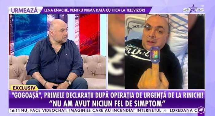 Captură video cu Gogoașă la Antena Stars.