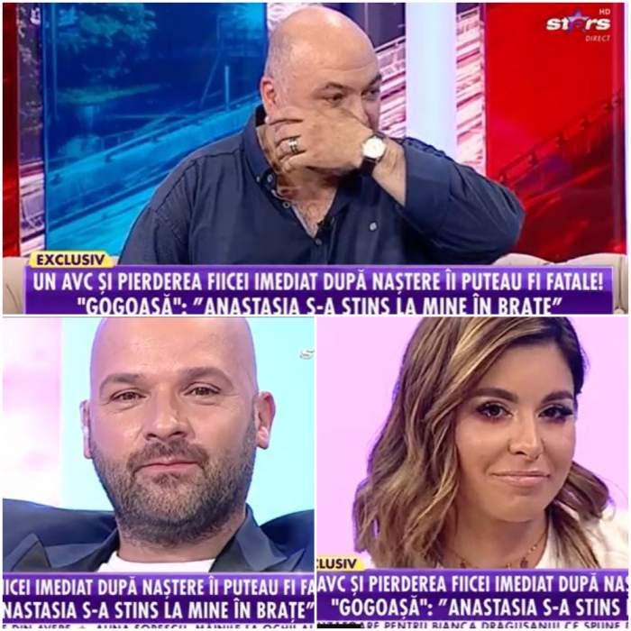 Captură video cu Gogoașă, Andrei Ștefănescu și Natalia Mateuț la Antena Stars.