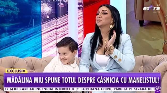 Captură video cu Mădălina Miu la Antena Stars.