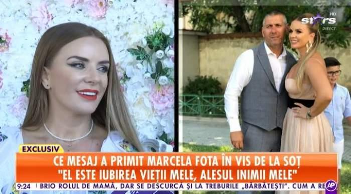 Captură video cu Marcela Fota.