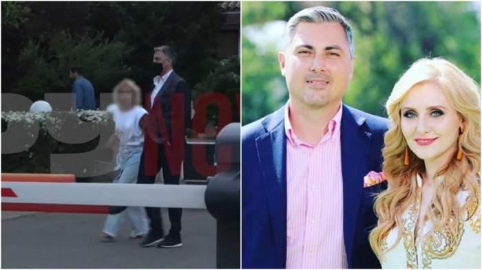 Colaj cu Alexandru Ciucu alături de o blondă/ Alexandru Ciucu și Alina Sorescu.