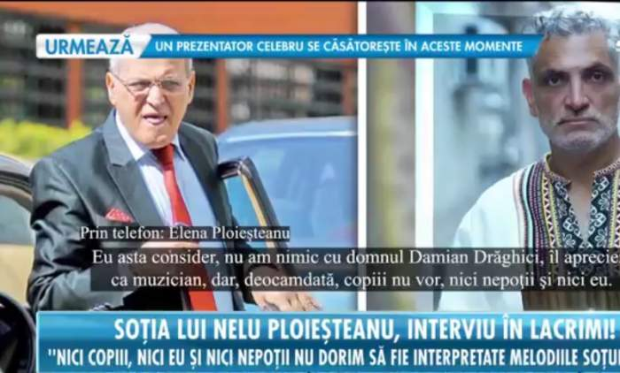 """Damian Drăghici vrea să cânte piesele maestrului Nelu Ploieșteanu. Ce părere are soția regretatului artist, Elena Ploieșteanu: """"Copiii nu vor, nici nepoții!"""
