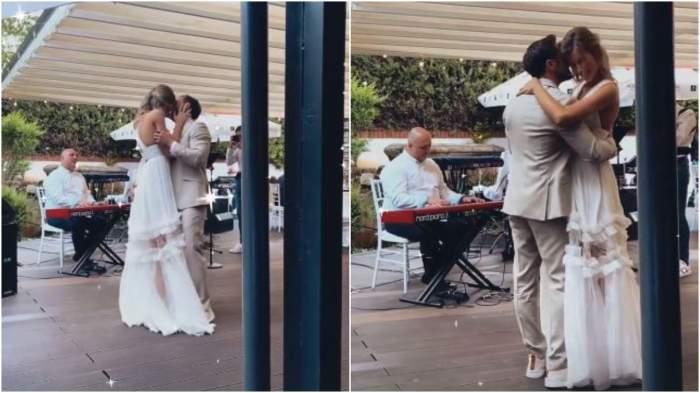 Dani Oțil și Gabriela Prisăcariu în timp ce dansează.