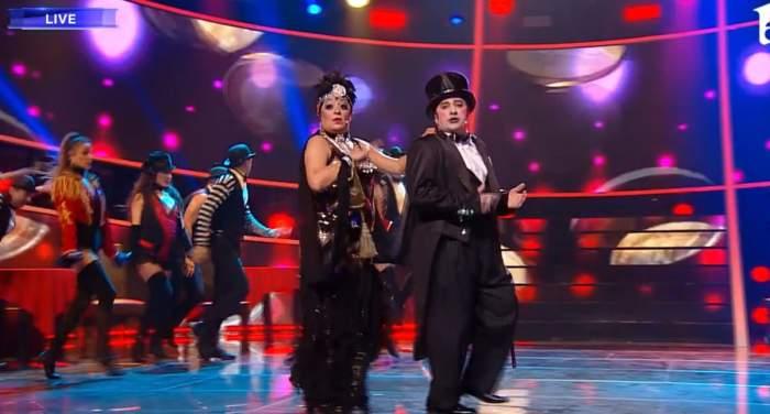 Adriana Trandafir și Romică Țociu au ridicat jurații în picioare, în finala Te cunosc de undeva! S-au transformat în Liza Minnelli și Joel Grey / VIDEO