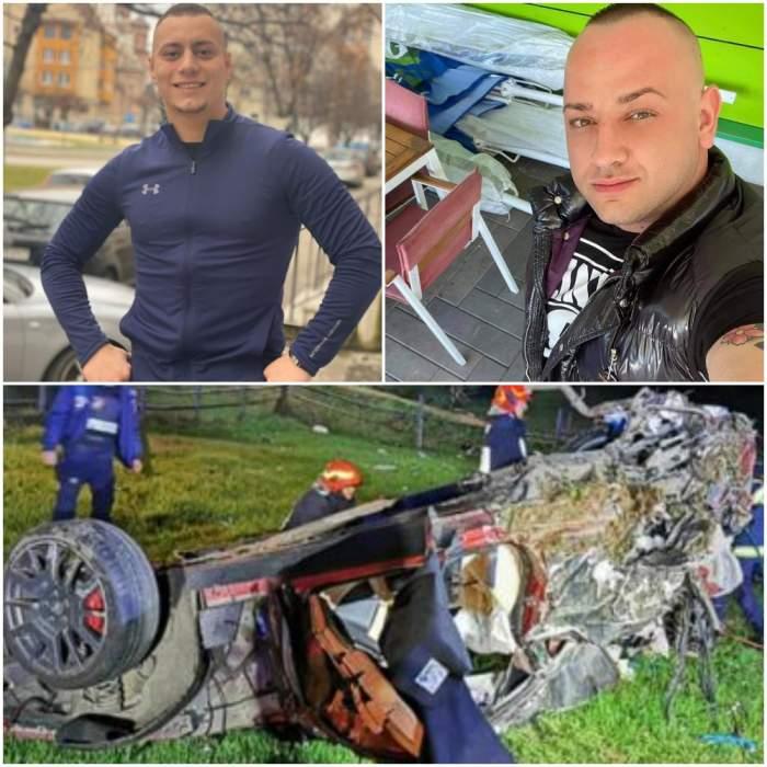 Colaj cu cei doi morți din accident/ accidentul de la Poiana Stampei.