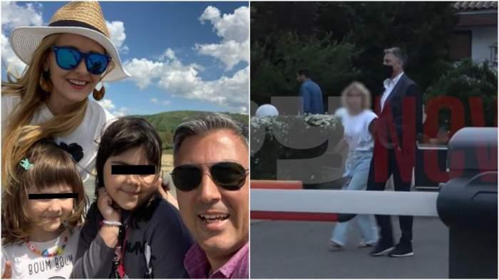 Colaj cu Alexandru Ciucu și Alina Sorescu alături de copii/ Alexandru Ciucu alături de o blondă.