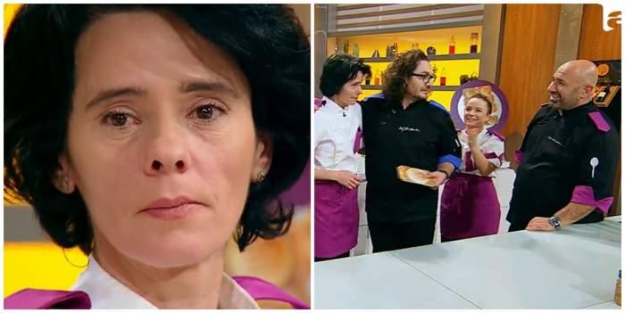 Mirela Negoiță de la Chefi la cuțite, salvată de la eliminare de amuleta lui Florin Dumitrescu. Concurenta s-a întors înapoi în echipa albastră / VIDEO