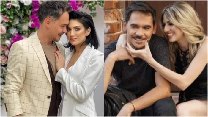 Colaj cu Răzvan Simion și Daliana Răducan, îmbrățișați/ Lidia Buble și Răzvan Simion când formau un cuplu.