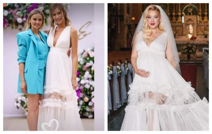 De unde s-a inspirat Gabriela Prisăcariu pentru rochia purtată în ziua nunții sale. O influenceriță de top a purtat aceeași ținută / FOTO