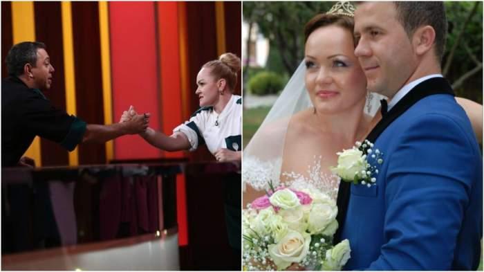 Colaj cu Victorina și Sorin Bontea/ Victorina și soțul său, în ziua nunții lor.