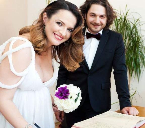 Florin Dumitrescu și soția sa, în ziua nunții.