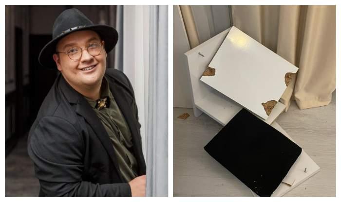 """Răzvan Babană, reporterul special Antena Stars, i-a distrus un obiect de preț unei cunoscute vedete de la noi: """"Pune mâna și slăbește"""" / VIDEO"""