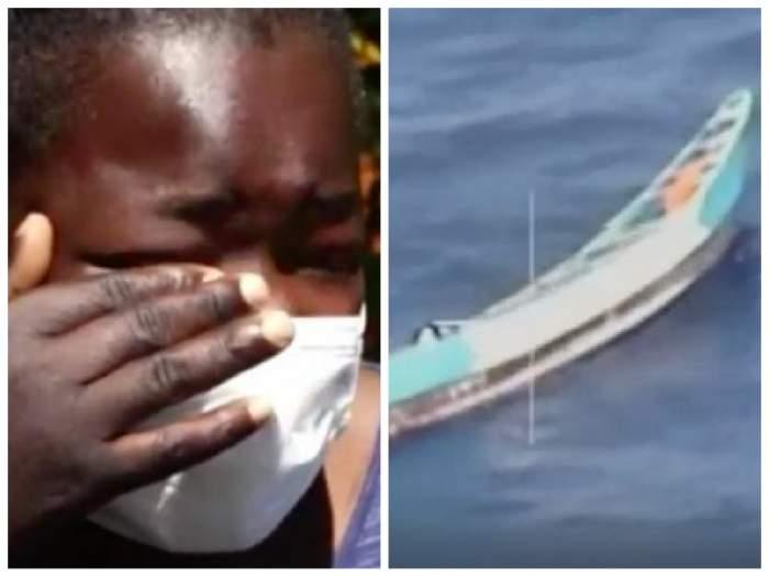 colaj adolescentă supraviețuitoare din coasta de fildeș și barca în care a plutit