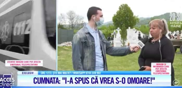 """Acces Direct. Cumnata femeii ucise în Argeș, mărturii cutremurătoare  după crima odioasă de ieri din Mihăești: """"I-a spus că vrea să o omoare"""" / VIDEO"""