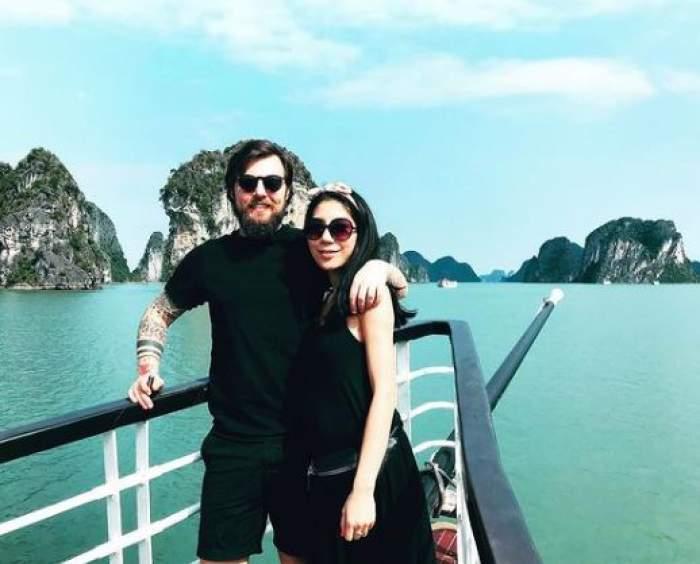 Ciprian Antone și soția sa, în vacanță.