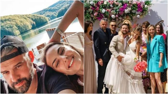 Colaj cu Tinu Vidaicu și Roxana Ionescu/ Tinu Vidaicu și Roxana Ionescu la nunta lui Dani Oțil și a Gabrielei Prisăcariu.
