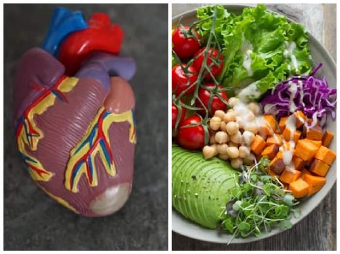 o inimă și un bol cu legume