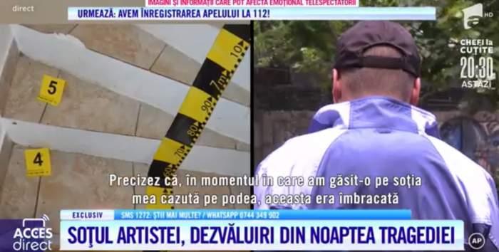 """Soțul Mariei Macsim Nicoară, declarații exclusive la Acces Direct, despre moartea soției sale! E crimă sau accident? """"A servit 2-3 pahare de vin"""" / VIDEO"""