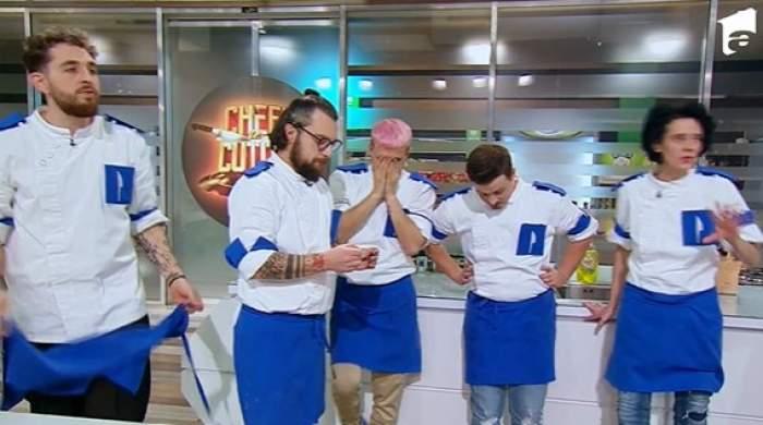 concurenți din echipa lui Florin Dumitrescu la Chefi la cuțite