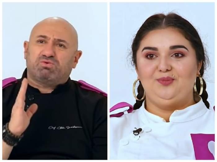 Cătălin Scărlătescu și Narcisa Birjaru la Chefi la cuțite