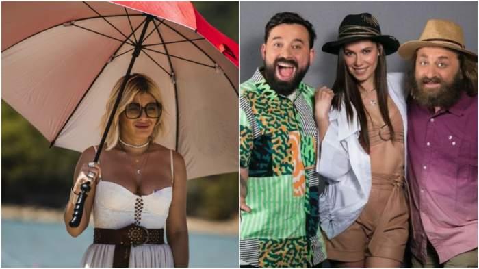 Colaj cu Gina Pistol la Asia Express/ Irina Fodor, Marius Damian și Oase, ședință foto.