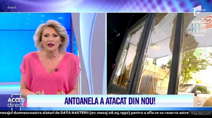"""Acces Direct. Mirela Vaida, atacată din nou de Antoanela. Femeia a spart geamurile. Prezentatoarea, în lacrimi: """"Mi-e frică să ies din casă"""" / VIDEO"""