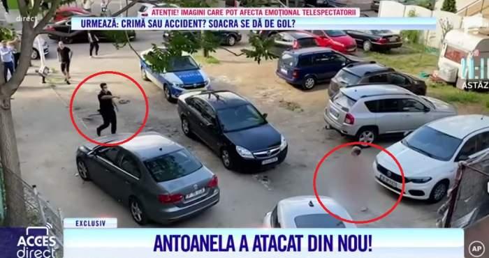 Acces Direct. Momentul năucitor în care Antoanela a atacat din nou cu bolovani! Polițiștii au alergat după agresoarea Mirelei Vaida ca să o prindă / VIDEO