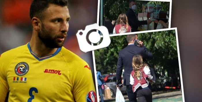 """Răzvan Raț își răsfață fetița în parc, până la """"ultimul bănuț""""! Fostul fotbalist e foarte atent la nevoile micuței sale / PAPARAZZI"""